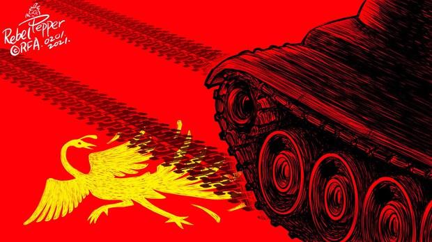 ဖေဖော်ဝါရီ ၁ ရက် စစ်အာဏာသိမ်းပွဲ ဖမ်းဆီးခံရသူများစာရင်း