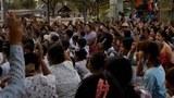 ဘုတလင်မြို့နယ် ကင်းစမ်းရွာမှာ ၂၀၂၁ ဧပြီလ ၆ ရက်နေ့က စစ်အာဏာရှင်စနစ် ဆန့်ကျင်ရေး ထန်းရွက်သပိတ်စစ်ကြောင်း ချီတက်ဆန္ဒပြခဲ့စဉ်