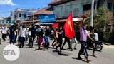 တနင်္သာရီတိုင်း ထားဝယ်မြို့မှာ စစ်အာဏာရှင်ဆန့်ကျင်ရေးအတွက် ၂၀၂၁ မေ ၁၅ ရက်နေ့က ဆန္ဒပြခဲ့ကြစဉ်