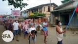 ကချင်ပြည်နယ် ဖားကန့်မြို့နယ် တာမခန်မြို့သစ်မှာ စစ်အာဏာရှင်ဆန့်ကျင်ရေး မေ ၁၆ ရက်နေ့က ဆန္ဒပြခဲ့ကြစဉ်