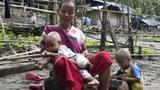 CDM ကျောင်းဆရာမ ဒေါ်ကေးမို ကို ထိုင်း-မြန်မာနယ်စပ်က ဒုက္ခသည်စခန်းမှာ ၂၀၂၁ စက်တင်ဘာ ၂၇ ရက်နေ့က တွေ့ရစဉ်