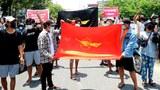 မန္တလေးမြို့မှာ စစ်အာဏာရှင် ဆန့်ကျင်ေရး တကသ သပိတ်စစ်ကြောင်း ၂၀၂၁ မေလ ၁၄ ရက်နေ့က ချီတက်ဆန္ဒပြစဉ်