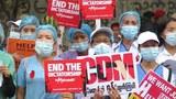 အာဏာဖီဆန်ရေးလှုပ်ရှားမှု CDM မှာပါဝင်နေကြတဲ့ ကျန်းမာရေးလုပ်သားများ။