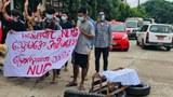 ဒဂုံမြို့သစ်တောင်ပိုင်းမြို့နယ်မှာ စစ်အာဏာရှင်ဆန့်ကျင်ရေး စုပေါင်းသပိတ်စစ်ကြောင်း ၂၀၂၁ ဇူလိုင် ၃ ရက်နေ့က ချီတက်ဆန္ဒပြခဲ့ကြစဉ်
