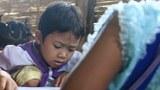 KNPP ထိန်းချုပ်နယ်မြေက ကျောင်းမှာ စာသင်နေကြတဲ့ ကလေးငယ်တွေကို တွေ့ရစဥ်