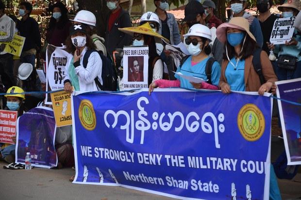 ရှမ်းမြောက်မှာ စစ်ကောင်စီကို ကန့်ကွက်လို့ ဖမ်းဆီးခံထားရသူ ၁၁ ဦးရှိ