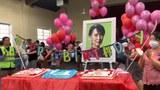နိုင်ငံတကာရောက်မြန်မာများ ဒေါ်အောင်ဆန်းစုကြည် မွေးနေ့အထိမ်းအမှတ်ပြုလုပ်
