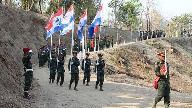 ထန်တလန်မြို့ CNF ရုံးချုပ်အနီး စစ်လေယာဥ်တွေ ပျံသန်းခဲ့