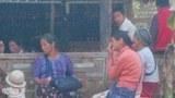 တရုတ်-မြန်မာနယ်စပ် ပန်ဆိုင်မြို့နယ် မန့်နွယ်အုပ်စု မန်တောင်ရွာက ထွက်ပြေးတိမ်းရှောင်လာကြသူများ။