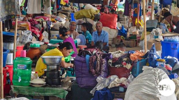 ကျောက်တော် စစ်ဘေးဒုက္ခသည်တွေ စားဝတ်နေရေးခက်ခဲနေ