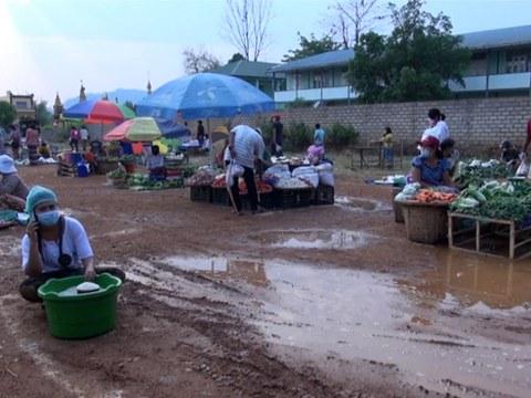 လားရှိုးမြို့ စည်ပင်က သတ်မှတ်ပေးတဲ့ ပျံကျဈေးကို ၂ဝ၂ဝ ဧပြီ ၂ဝ ရက်နေ့က တွေ့ရစဉ်
