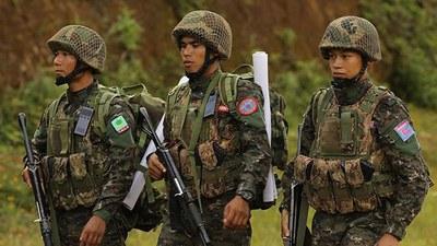 မြောက်ပိုင်းမဟာမိတ်သုံးဖွဲ့ဖြစ်တဲ့ TNLA, AA, MNDAA တပ်ဖွဲ့ဝင်တွေကို တွေ့ရစဉ်
