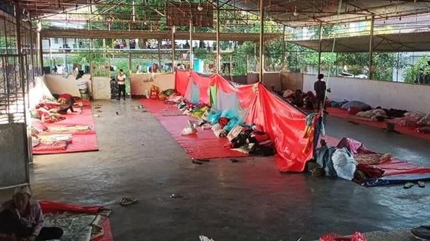 မုံးကိုးစစ်ဘေးဒုက္ခသည် ၁၀၀ နီးပါး ကိုဗစ်ကူးစက်ခံနေရ