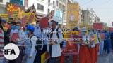 စစ်အာဏာရှင် ဆန့်ကျင်ဆန္ဒပြနေတဲ့ မန္တလေးမြို့က ပြည်သူတွေကို တွေ့ရစဉ်