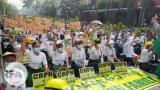 CRPH ထောက်ခံကြောင်း ၂၀၂၁ မတ် ၇ ရက်နေ့က ရန်ကုန်မြို့မှာ ဆန္ဒပြခဲ့ကြစဉ်